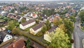 Stabilimento suburbano in Germania con le case a terrazze, casa per il mA Fotografia Stock Libera da Diritti