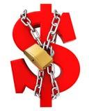 stabilisering för dollar 3d stock illustrationer
