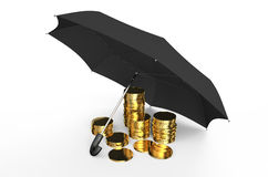 Stabilità e protezione in finanziario, nell'affare e nell'assicurazione c royalty illustrazione gratis