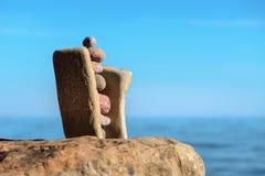 Stabilität von Steinen Stockfotografie