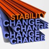 Stabilitet amongst ändring Royaltyfri Bild