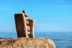 Stabilitet av stenar Arkivbild