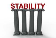 Stabilitetsbegrepp royaltyfri illustrationer