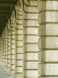 Stability. Columns under a bridge stock photography