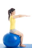 On stability ball Stock Images