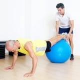 Stability ball exercise stock photo