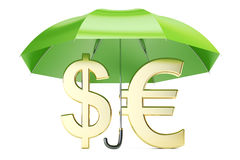 Stability and protection currency. Financial, business and insur Royalty Free Stock Photography