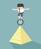 Stability of Success. Illustration Cartoons concepts .eps10 Stock Photo