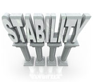 Free Stability Word Columns Strong Support Stock Photos - 24936623