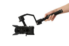 Stabilization System With 3-axis Gimbals & Mirrorless Camera Royalty Free Stock Image