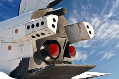 Spacecraft, rear view Stock Photography