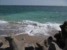 Stabilopod-Schutz - kahles Meer Stockbild