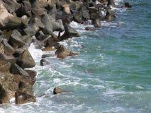Stabilopod-Schutz - kahles Meer Lizenzfreies Stockbild