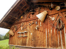 The stable. This is an ancient stable with a lot of gears Royalty Free Stock Photo