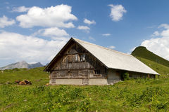 Stable in the alps Royalty Free Stock Photos