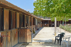 A Stable Block - Horse Stables. A row of horse stables Stock Photography