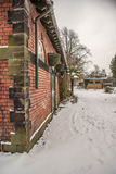 Stable block in the snow Royalty Free Stock Photo