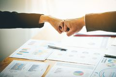 Stable business teamwork Unity in the group Joint business Quality teamwork ideas. Money Making Business Stable business teamwork Unity in the group Joint royalty free stock photo