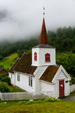 Stable church. In Norway with some clouds Royalty Free Stock Image