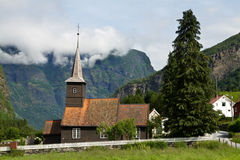 Stable church in Flam. In Norway Royalty Free Stock Photography