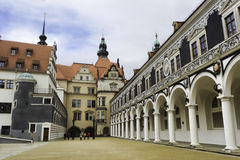 Stable court in the Saxon Royal Palace of Dresden Stock Photography