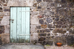 Stable Door and Stone Wall Royalty Free Stock Images