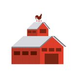 Stable farm building isolated icon. Vector illustration design Royalty Free Stock Photos