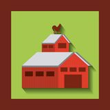 Stable farm building isolated icon. Vector illustration design Stock Image