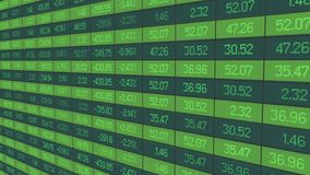 Stable growth of company asset price show in figures on stock market board. Stock video Royalty Free Stock Photography