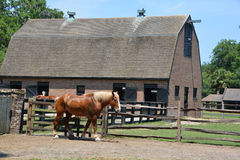 Stable at Middleton Place. CHARLESTON SC USA JUNE 23 2016: Stable at Middleton Place is a plantation in Dorchester County, directly across the Ashley River from Stock Images