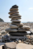 Stable pyramid of stones Royalty Free Stock Image