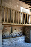 Stables 2. Rooms and stables with bolconies in monastery in Majorca in Spain royalty free stock photo