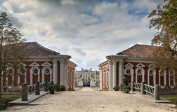 Stables and entrance to the Rundale Palace. Stock Photography