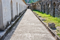 Stables at Gingee Fort. Horse stables at Gingee Fort in Tamil Nadu, India Royalty Free Stock Photography