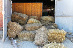 Stables hay Stock Photography