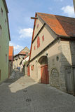 Stables within a medieval town Royalty Free Stock Photo