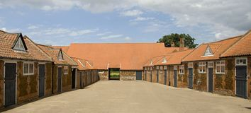 Stables and yard in Norfolk. UK stock images