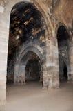 Stabling περιοχή για τις καμήλες κ.λπ., καραβανσεράι Sultanhani σε Akseray, Cappadocia, Τουρκία Στοκ Εικόνες