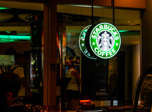 Stabucks coffee shop in Bangkok, Thailand Royalty Free Stock Images