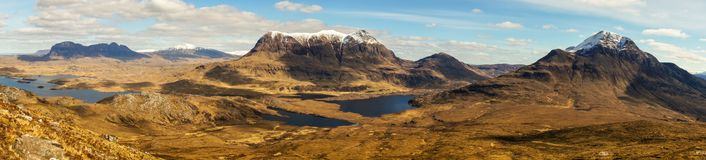 Stac Pollaidh in the Scottish Highlands. Panoramic Mountain View royalty free stock photos