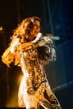 Stacey Ferguson Fergie, de Black Eyed Peas, se realiza en el Cornella-EL Prat del estadio imágenes de archivo libres de regalías