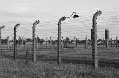 Stacheldraht in Auschwitz Birkenau Lizenzfreies Stockbild