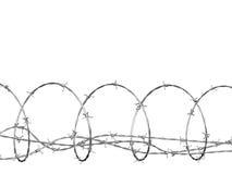 Stacheldraht kräuselte sich in der Spirale Lizenzfreies Stockfoto