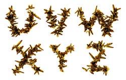 Stacheldrahtbuchstaben Stockfoto