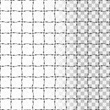 Stacheldrahtnettoschattenbild als transparentes nahtloses Muster Stockfotos