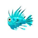 Stachelige Fische Auch im corel abgehobenen Betrag vektor abbildung