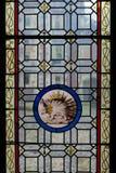 Stachelschwein emblemof das Haus von Orleans. Stockfotos