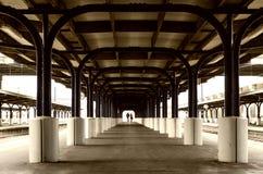 Staci Kolejowej platforma Wellington Zdjęcia Royalty Free