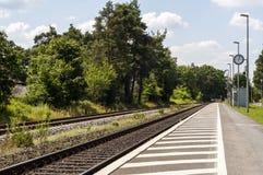 Staci kolejowej wejście Zdjęcia Stock