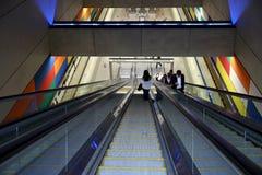 Staci metru podziemny przejście Budapest Zdjęcie Royalty Free